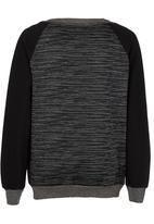 Rebel Republic - Colourblock Sweater Dark Grey