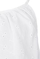 See-Saw - Anglaise Top White