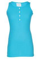 POP CANDY - Girls Sleeveless  Tee Mid Blue