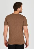 Volcom - Solid Stone Palms Premium T-Shirt Brown/Black