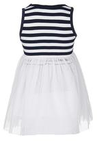POP CANDY - Stripe Dress Navy