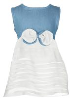 POP CANDY - Bow Tunic Top Pale Blue