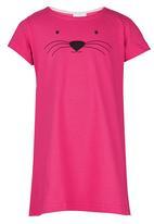 See-Saw - T-Shirt Night Dress Dark Pink
