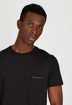 Brave Soul - Crew Neck T-Shirt with Chest Pocket Black