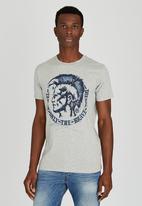 Diesel  - T-Diego-Fr T-Shirt Pale Grey