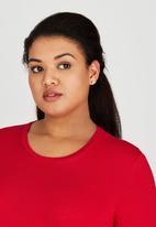 edit Plus - Hanky Hem Tunic Red