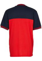 Retro Fire - Henley Tee Red