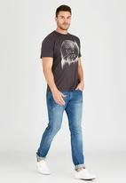 Quiksilver - Blind Side  T-Shirt Dark Grey