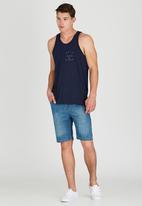 Quiksilver - Passive 19 Inch Denim Shorts Blue