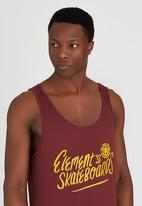 Element - Element Skateboard Singlet Red