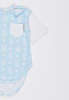 Poogy Bear - Body Vest Pale Blue
