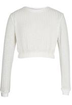 Rebel Republic - Cropped Sweater White