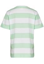 Soobe - Printed Stripe Tee Light Green