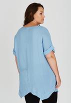 edit Plus - Wide Hem T shirt Pale Blue