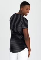 S.P.C.C. - Yarn Dyed Stripe Tee Black