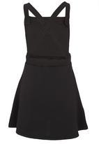 Rebel Republic - Dungaree Dress Black