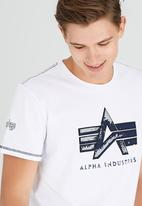 Alpha Industries - Jester Logo Tee White