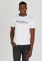 Polo Jeans Co. - Polo Jean Co. Printed Tee White