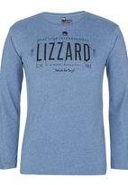 Lizzard - Cameron Tee Mid Blue