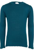 See-Saw - Scallop Neck Jumper Green
