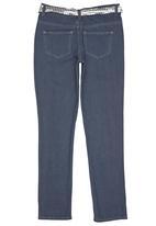 Twin Clothing - Silver Belt Denim Dark Blue