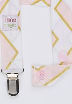 Mina Moo - Blush Pink Chevron Dummy Clip Multi-colour