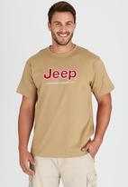 JEEP - S/S Applique/ Emb Tee Beige
