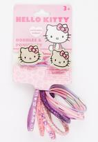 Character Fashion - Hello Kitty  2 Piece Bobble And 10 Pack Ponies Mid Pink