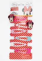 Character Fashion - 4 Pack Minnie Mouse  Snap Clips Multi-colour