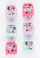 Character Fashion - 6 Pack Minnie Mouse  Jaw Clips Multi-colour