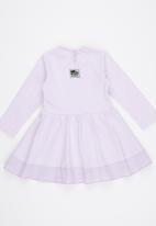 Just chillin - Flower Applique Suit Pale Purple