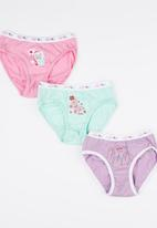 Jockey - Girls 3 Pack  French Panty Multi-colour