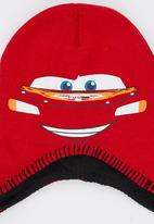 Character Fashion - CarsTrapper Beanie Red