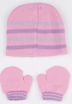 Character Baby - Minnie Mouse Beanie & Mitten set Pale Pink