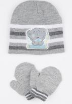 Character Baby - Beanie & Mitten set Pale Grey