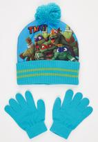 Character Fashion - Turtles 2pc Premium Beanie & Gloves Set Mid Blue
