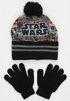 Character Fashion - Star Wars  2pc Premium Beanie & Gloves Set Black