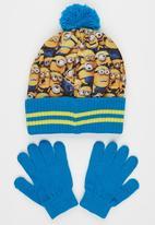 Character Fashion - Minions  2pc Premium Beanie & Gloves Set Mid Blue