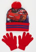 Character Fashion - Cars 2pc Premium Beanie & Gloves Set Red