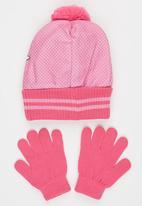 Character Fashion - Minnie 2pc Premium Beanie & Gloves Set Pale Purple