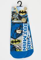 Character Fashion - Batman Slipper Sock Dark Blue