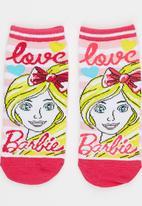 Character Fashion - Barbie Slipper Sock Mid Pink