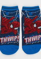 Character Fashion - Spiderman Slipper Sock Dark Blue