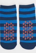 Character Fashion - Superman Slipper Sock Dark Blue