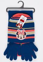 Character Fashion - Minnie 3 Piece Winter Set Navy
