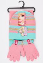 Character Fashion - Barbie 3 Piece Winter Set Pale Pink