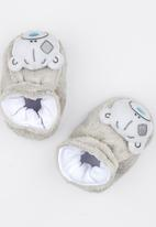 Character Baby - Tiny Tatty Teddy Booties Pale Grey