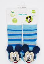 Character Baby - Mickey Mouse Rattle fun socks Multi-colour