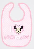 Character Baby - Minnie Mouse Bib Pale Pink