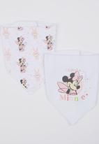 Character Baby - Minnie Mouse 2 Pack Bandanna bibs White